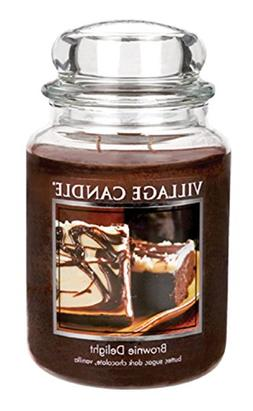 Village Candle Brownie Delight 26 oz Glass Jar Scented Candl