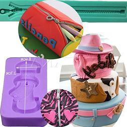 Anyana long bag zipper Baking Molds strap belt Silicone Fond
