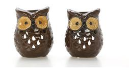 """Hosley Set of 2 Ceramic Owl Oil Warmers - 4.9"""" High. Use wit"""