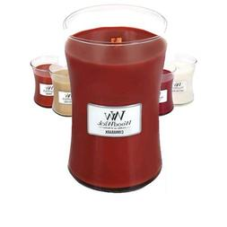 1 X CINNABARK WoodWick 22oz Large Jar Candle Burns 180 Hours