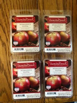 ScentSationals Cinnamon Apples Wax Warmer Cube Melts 4 PACK