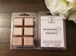Cinnamon Vanilla Scented Wax Melts, Hand Poured, Soy Blend C