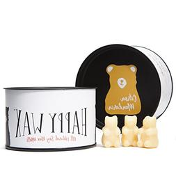 Happy Wax Citron Mandarin Scented Soy Wax Melts - Bear Shape
