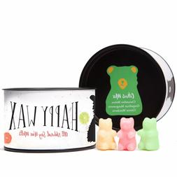Happy Wax Citrus Mix, Scented Soy Wax Melts Fun Bear Shapes