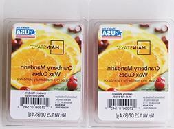 2 Pack Cranberry Mandarin Scented Wax Cubes