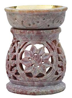 Essential Tealight Oil Diffuser in White Soapstone Aromather