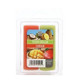 Hosley Dual Pack Island Fruit/Mango Papaya Wax Cubes- 2.5 oz