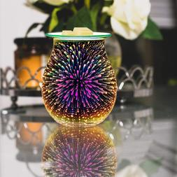 Electric Candle Warmer, Glass Tart Burner With 3D Effect Nig