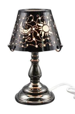 Electric Oil Wax Tart Melt Warmer Lamp Black Celestial Desig