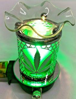 Electric Plug in Oil Warmer Marijuana Leaf Design Wax Melts
