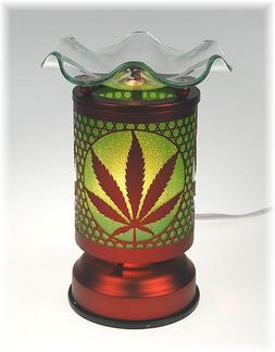 Electric Tart Burner Oil Wax Melts Warmer Marijuana Pot Leaf