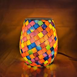 Essential Oil Diffuser Mosaic Glass Fragrance Warmer Candle