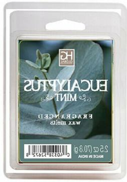 Hosley Eucalyptus Mint Scented Wax Cubes Melts 2.5 Ounces Ha