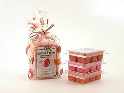 Fall Favorites 3pk Melty Cube Scented Wax Melt Sampler: Pump
