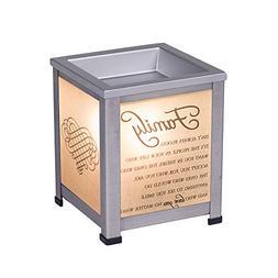 Elanze Designs Family Love Silver Tone Metal Electrical Wax
