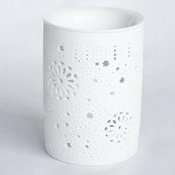 Better-way Flower Floral Ceramic Oil Warmer Tea Light Holder