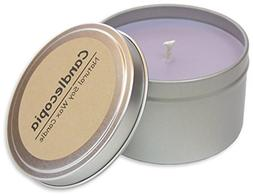 Candlecopia French Lavender Scented Soy Candle - The unique