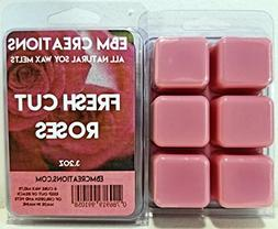 Fresh Cut Roses - Scented All Natural Soy Wax Melts - 6 Cube