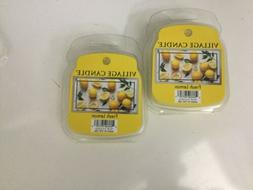 Village Candle Fresh Lemon Wax Melts Two 2.2oz Sealed Pks