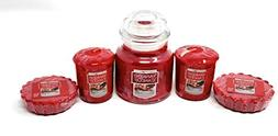 Frosty Gingerbread Small Classic Jar, Votive Candles, and Ta