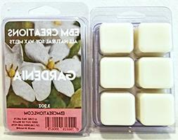 Gardenia - Scented All Natural Soy Wax Melts - 6 Cube Clamsh