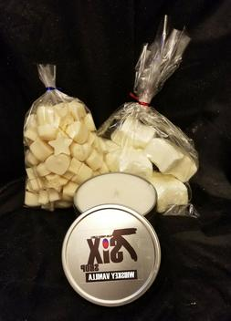 Gift Set: Matching Candle/Wax Melts/Shower Bombs. Whiskey Va