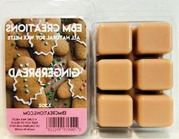 Gingerbread - Scented All Natural Soy Wax Melts - 6 Cube Cla
