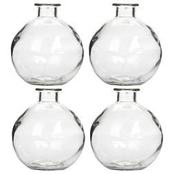 Hosley Set of 4 Glass Bottles - 250ml - Ideal Gift for Weddi