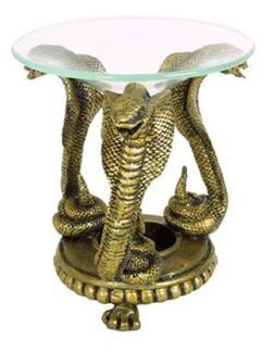 """Hosley 4.9"""" High Resin Cobra Snake Oil Warmer. Ideal Gift fo"""