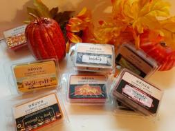 Highly Scented Pure Soy Wax Melts 6 pack clamshell Fall & Ha