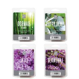 Hosley 4 Pack of 2.5oz Wax Cubes/Melts -EUCALYPTUS,LAVENDER,