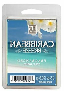 Hosley Caribbean Breeze Scented Wax Cubes/Melts - 2.5 oz - H