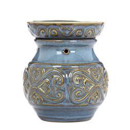 """Hosley Electric Ceramic Fragrance Warmer - BLUE 6"""" High O4"""