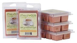EcoScents Hot Cranberry Tea Wax Melts 5 Pack, Brown