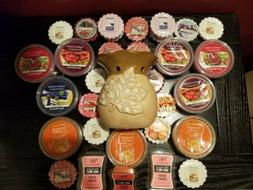 HUGE RARE LOT Of YANKEE Candle Wax Melts With Oil / Melt Bur