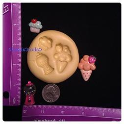 Ice Cream Cone Cupcake Bubble Gum Machine Fondant Mold Choco
