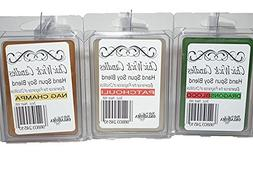 ChicWick Candles 3Pack Incense Mix Trio Soy Blend Wax Melts