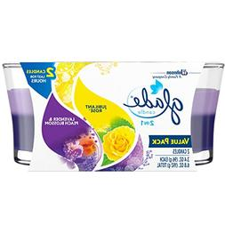 Glade 2in1 Jar Candle Air Freshener, Jubilant Rose and Laven