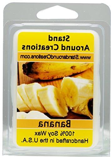100% All Natural Soy Wax Melt Tart - Banana : A true, fresh,