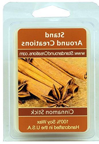 100% All Natural Soy Wax Melt Tart - Cinnamon Stick: A full