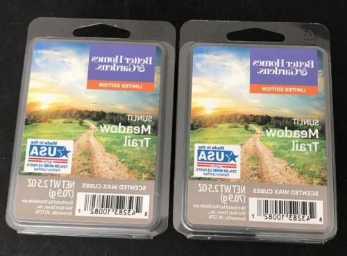 2  BETTER HOMES & GARDENS Wax Melts SUNLIT MEADOW TRAIL 2.5