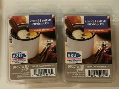 2 packs apple crisp tea wax melts