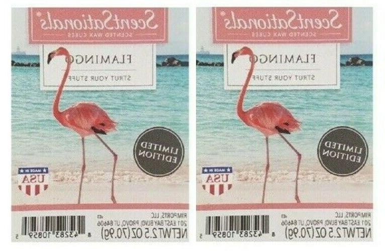 2 Packs Flamingo Scented Wax cubes Melts Tarts - ScentSation