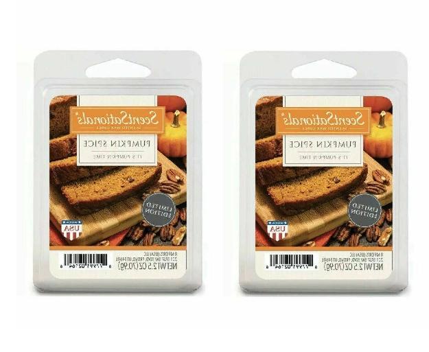 2 packs pumpkin spice wax melts tarts