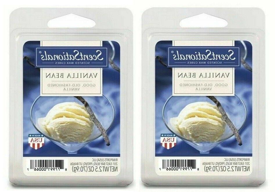 2 Packs Vanilla Bean Scented Wax cubes Melts Tarts - ScentSa