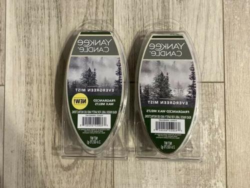 2 packs wax melts evergreen mist 6
