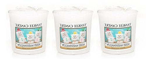 3 Yankee Candle MERRY MARSHMALLOW Sampler® Votive Candles 1