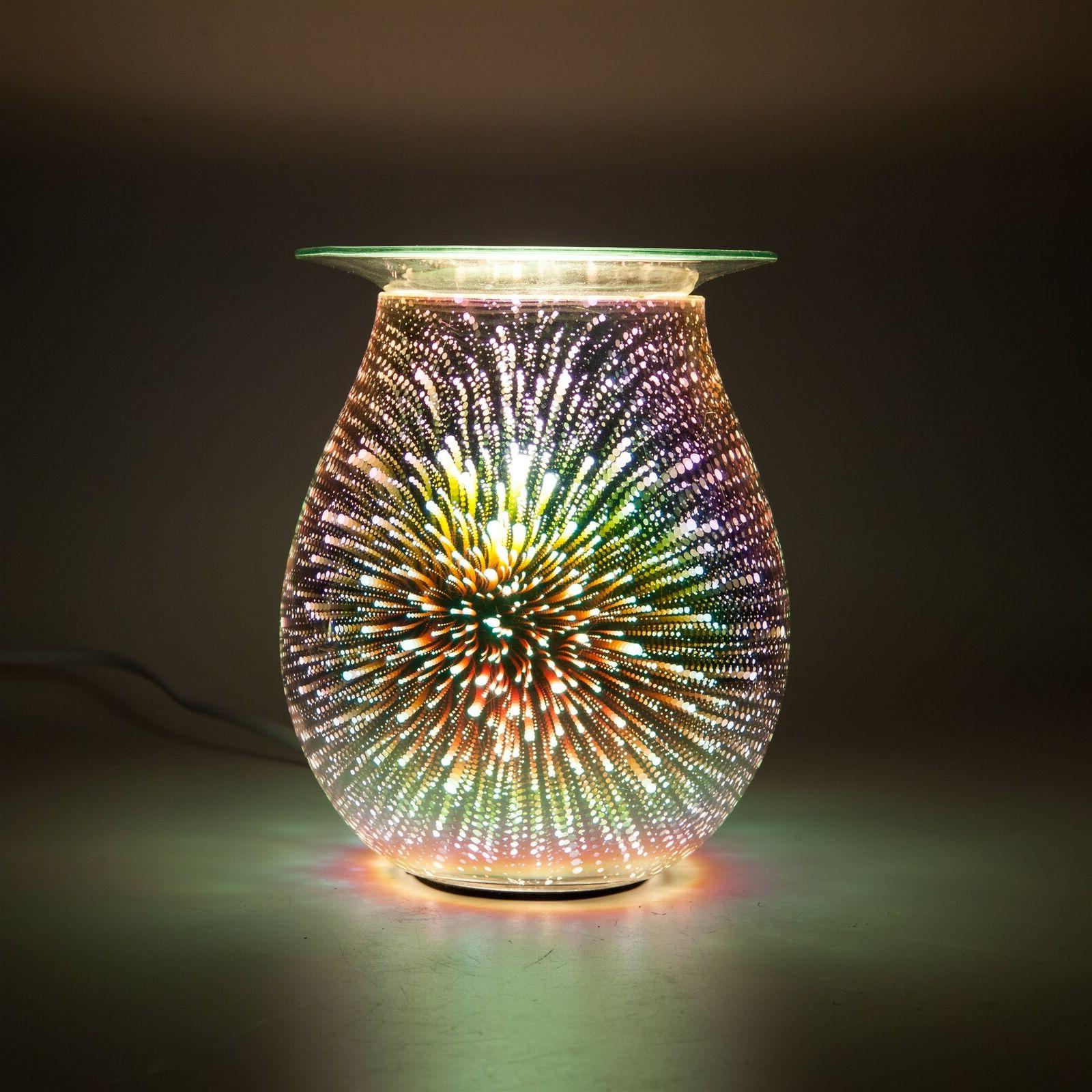 3D Firework Glass Electric Wax Burner Melter