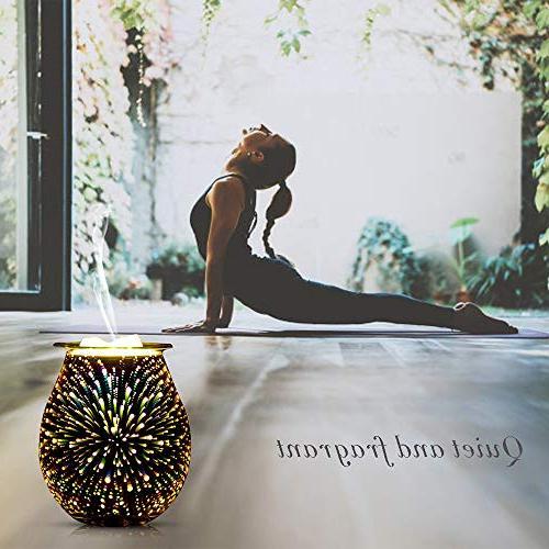QUSUP Glass Wax Melt Candle Warmer Wax Fragrance Warmer Office Gifts Decor