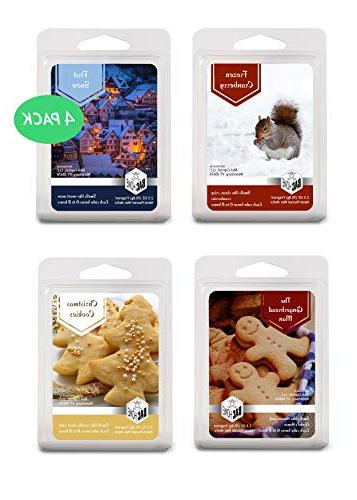 4 pack christmas collection soy blend scented